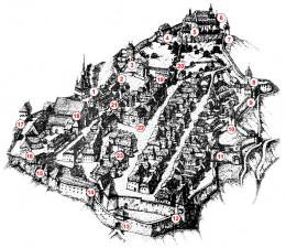 Harta Sighisoara - Pensiunea Casa Legenda